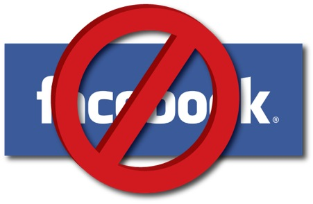 No Facebook Logo
