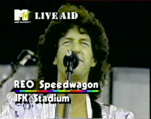 """REO Speedwagon"" MTV ""Live Aid"""