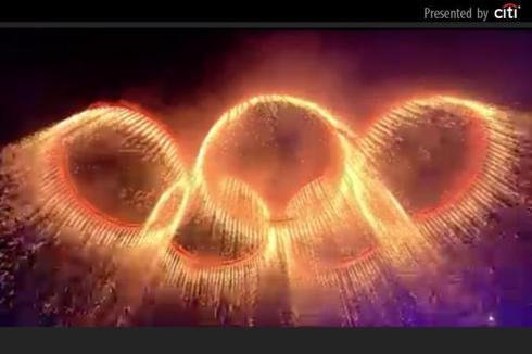 2012 Olympics Rings Opening Ceremony