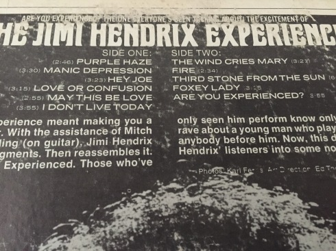 Are You Experienced tracks