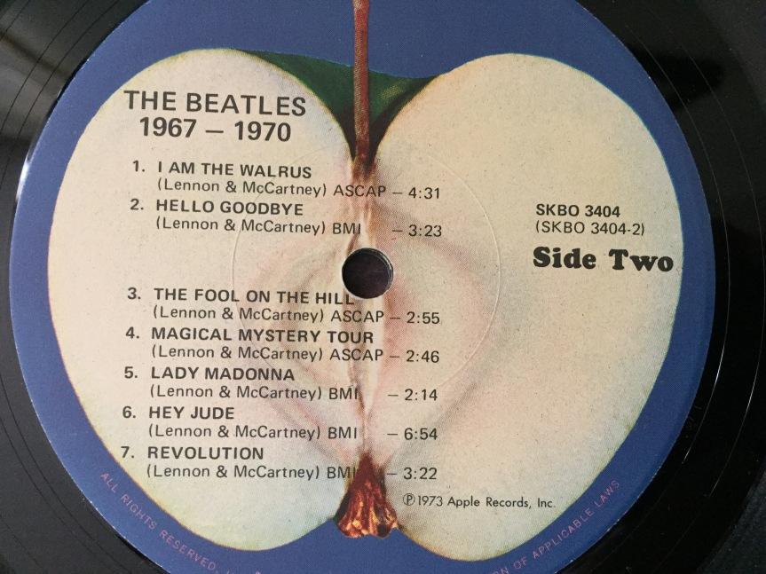 Bealtes Blue Album label Apple records