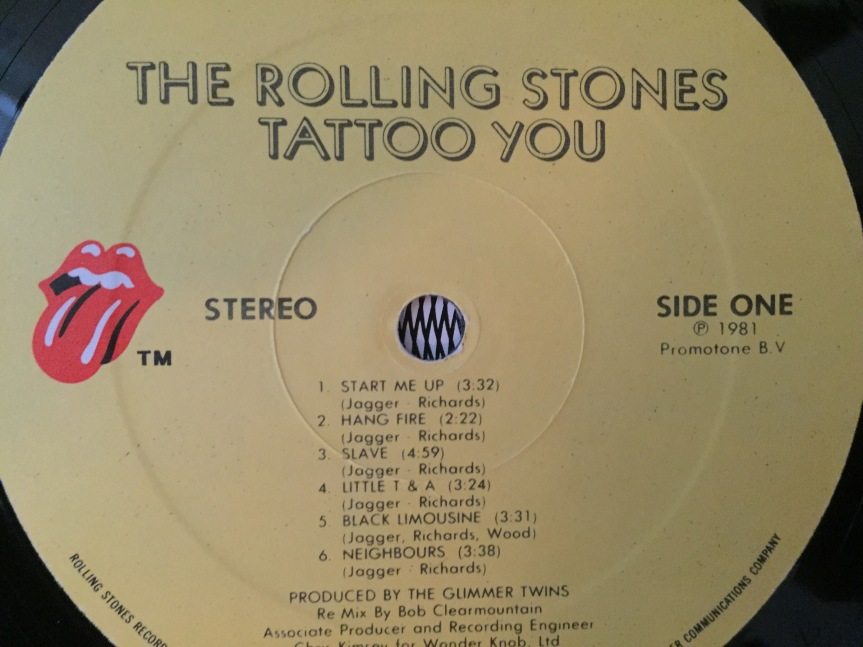 Rolling Stones Tattoo You Label