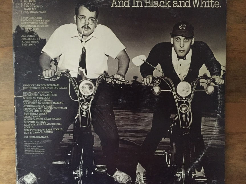 Cheap Trick And In Black and White Back Cover