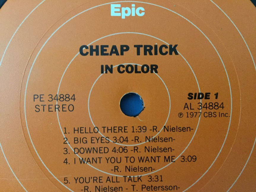 Cheap Trick In Color Epic Label