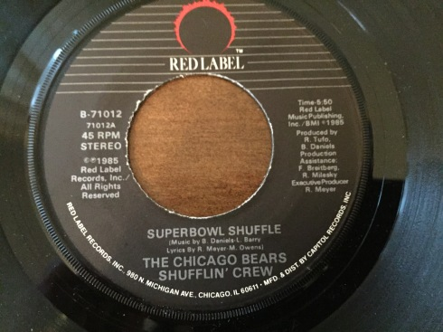 Chicago Bears Super Bowl Shuffle label