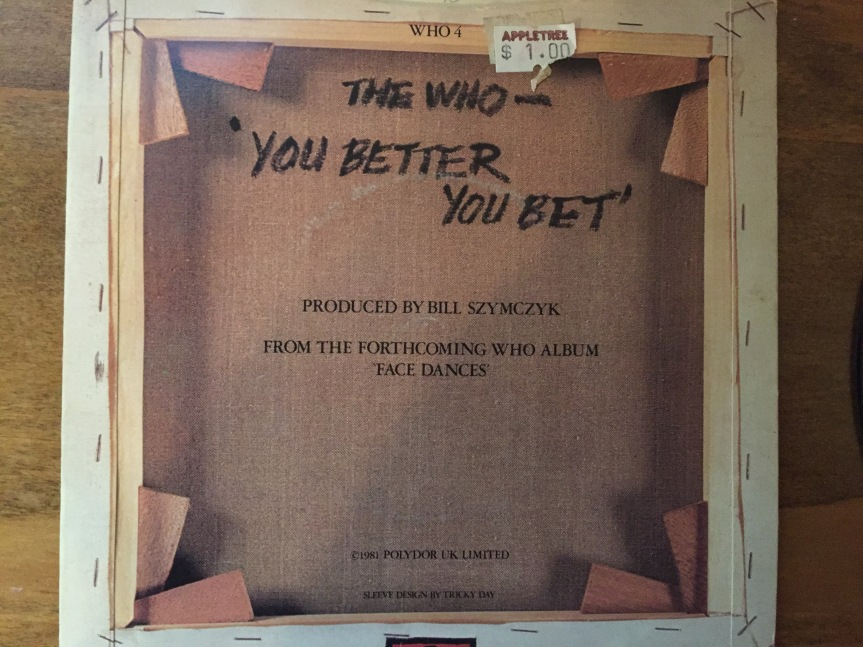 You Better You Bet Single The Who