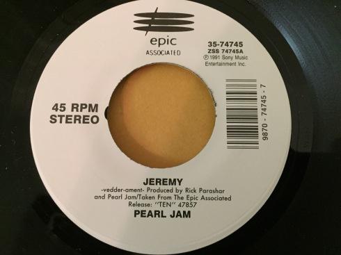 Pearl Jam Jeremy vinyl