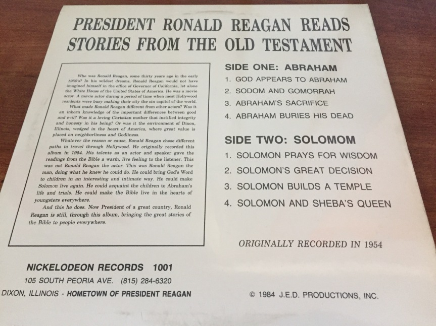 Ronald Reagan Reads Stories